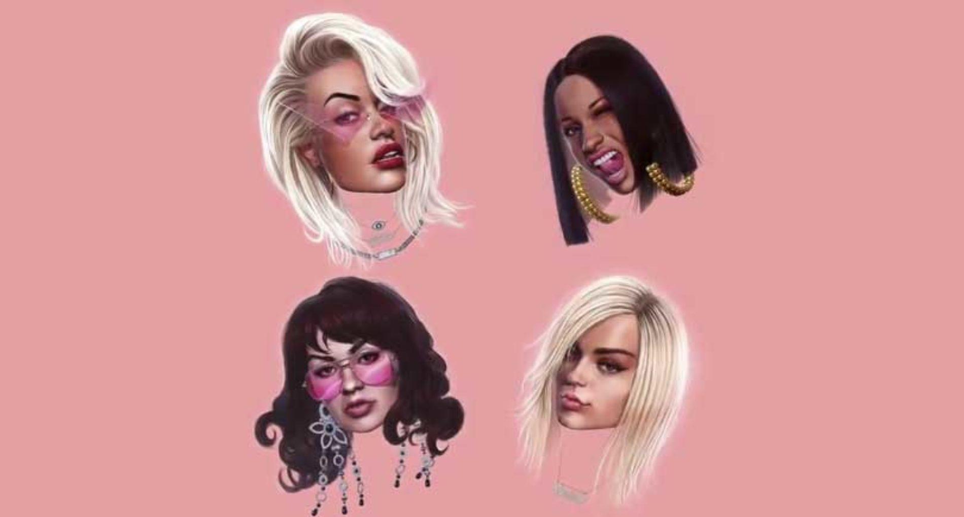Rita Ora, Cardi Bebe Rexha og Charli XCX utforsker biseksualitet i 'Girls'!